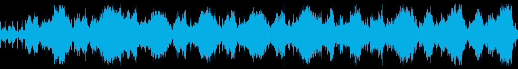 恐怖を演出するストリングス ループ素材の再生済みの波形