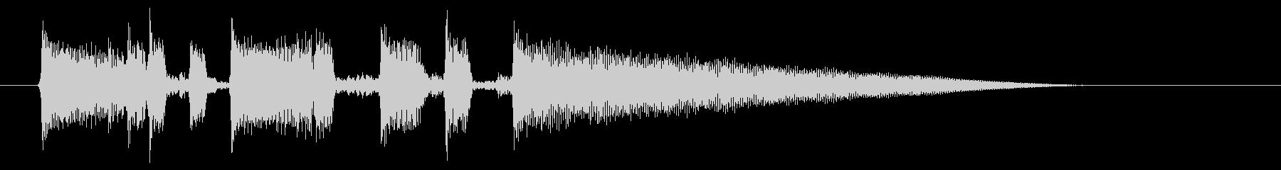 ボサノバ風ギターのジングルの未再生の波形
