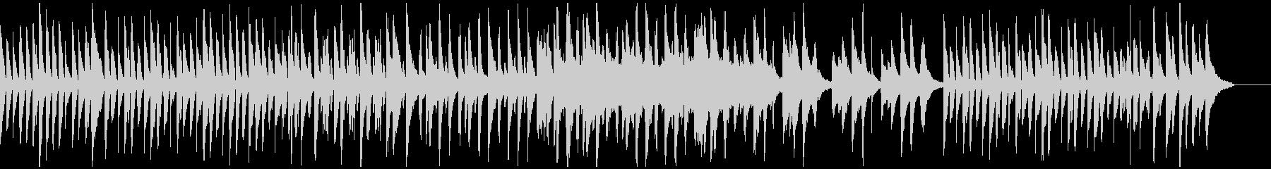 ピアノでのノビノビした曲の未再生の波形