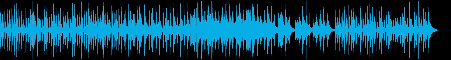 ピアノでのノビノビした曲の再生済みの波形