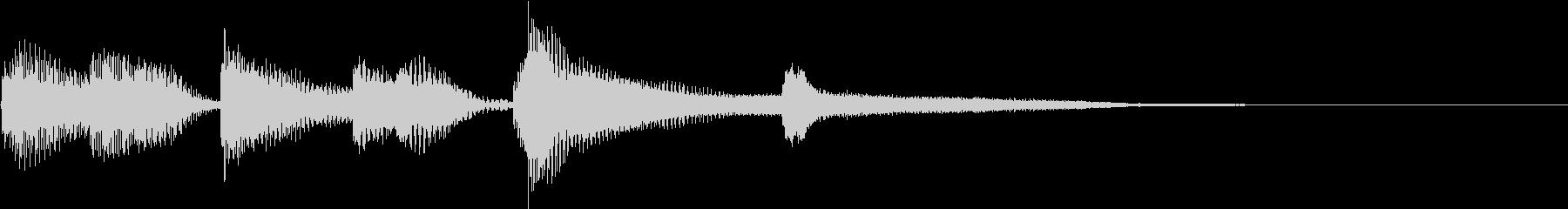 明るいピアノソロ ジングルの未再生の波形