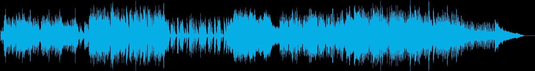 可愛らしいワルツ要素のあるポップスの再生済みの波形