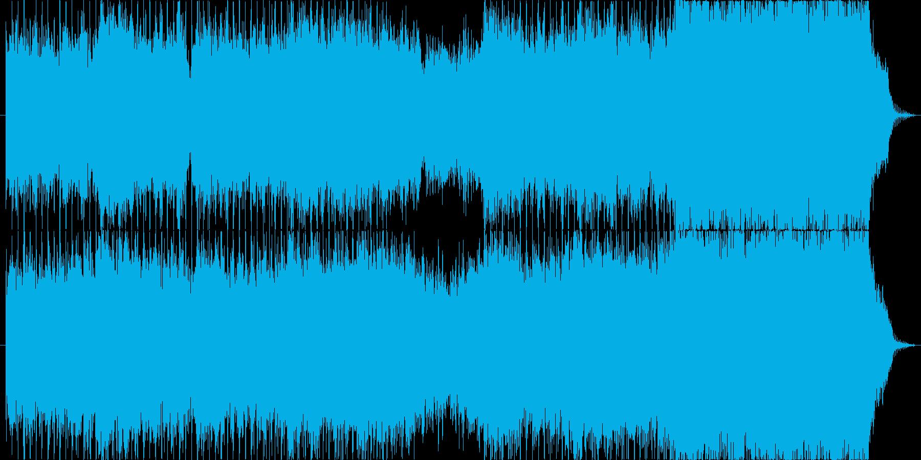 ゆったりした哀愁のあるSynthwaveの再生済みの波形