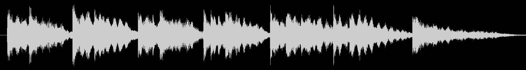 キレイ系の優しいエレピのジングル-aの未再生の波形