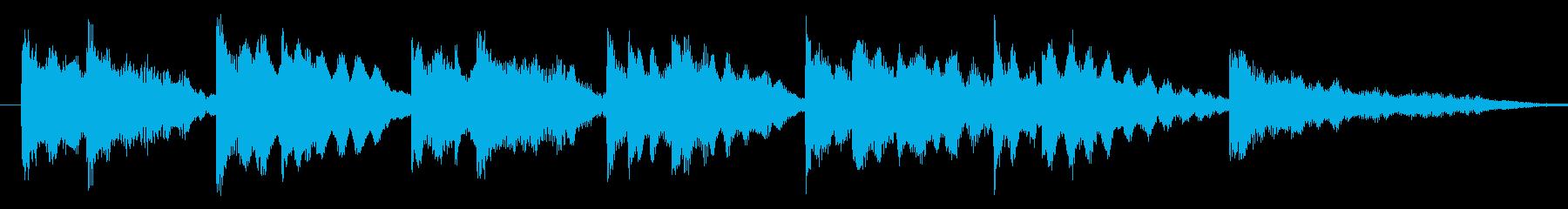 キレイ系の優しいエレピのジングル-aの再生済みの波形
