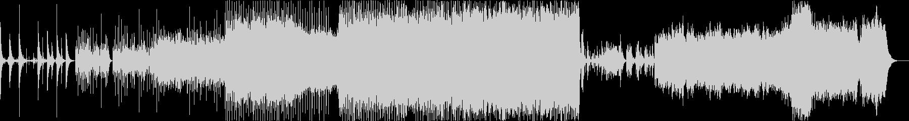 グリッチー ノイズ の未再生の波形