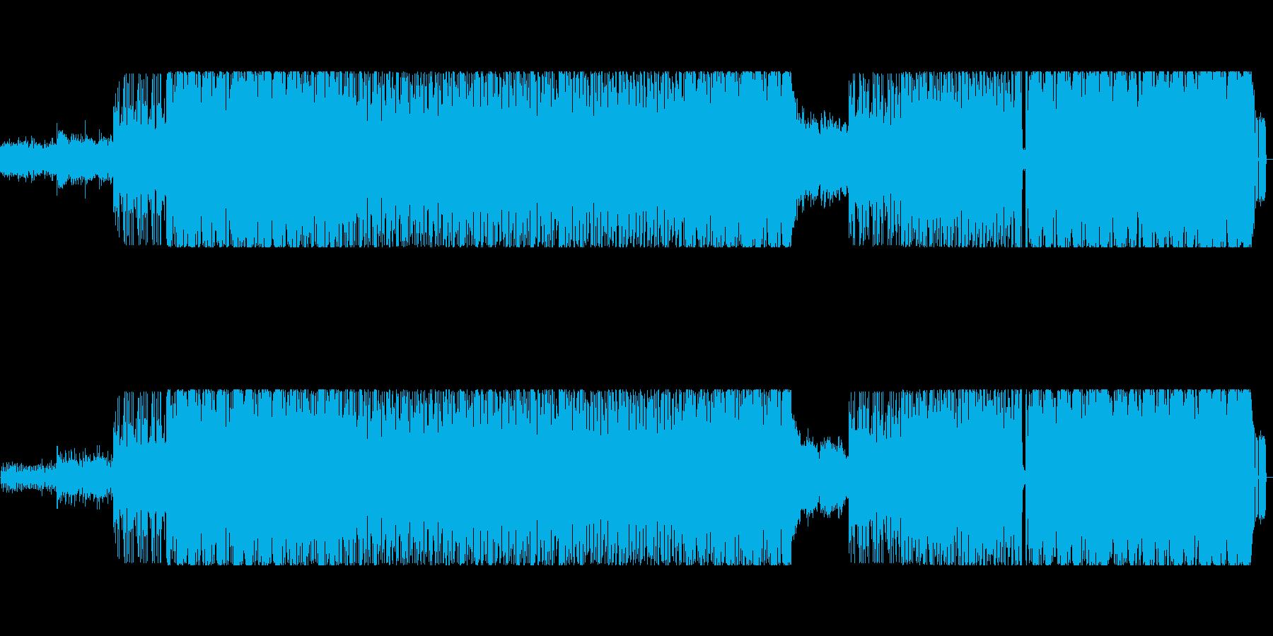 元気の出る明るい曲調のインスト曲の再生済みの波形