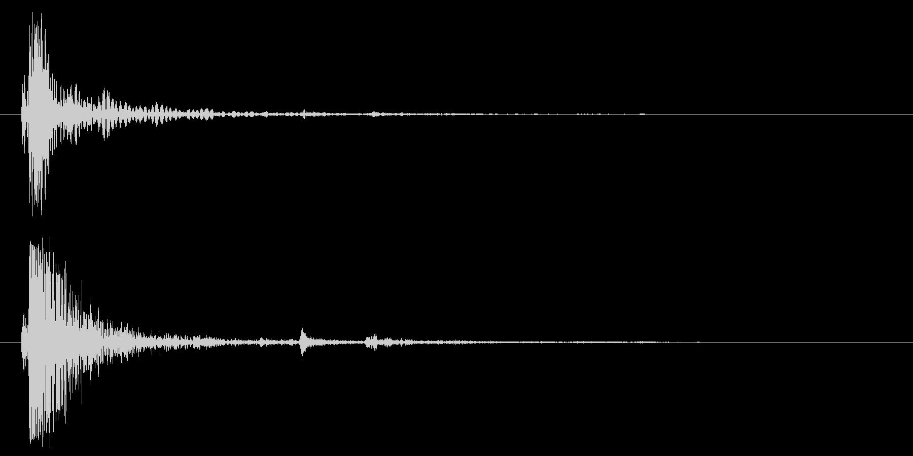 ウッドインパクトヘビー01;破片落...の未再生の波形