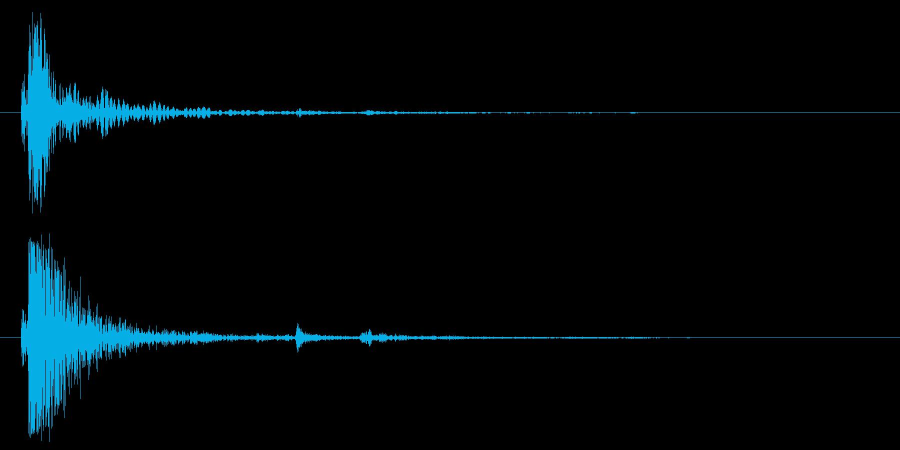 ウッドインパクトヘビー01;破片落...の再生済みの波形