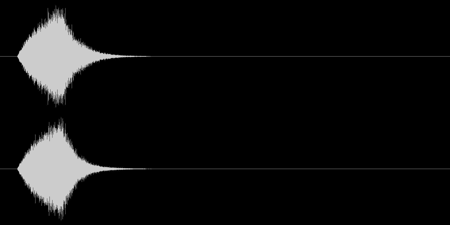 シューンという不思議なロゴの未再生の波形