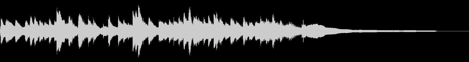 静かな門出/15秒のジングル40-ピアノの未再生の波形