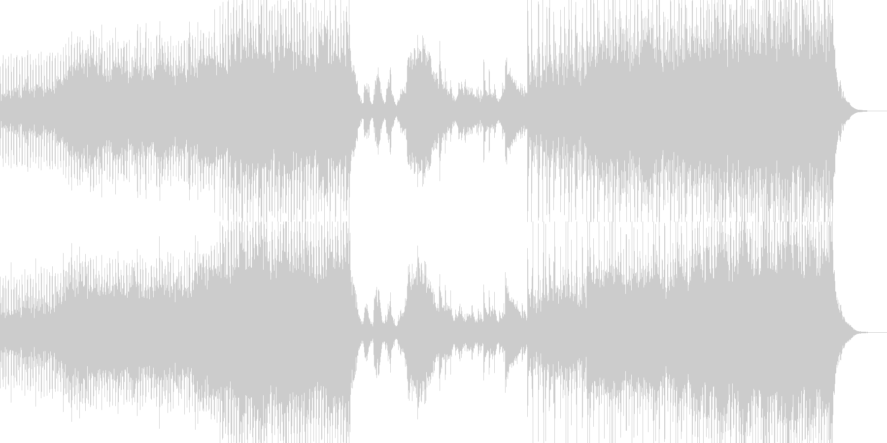和風ダンス風インストの未再生の波形