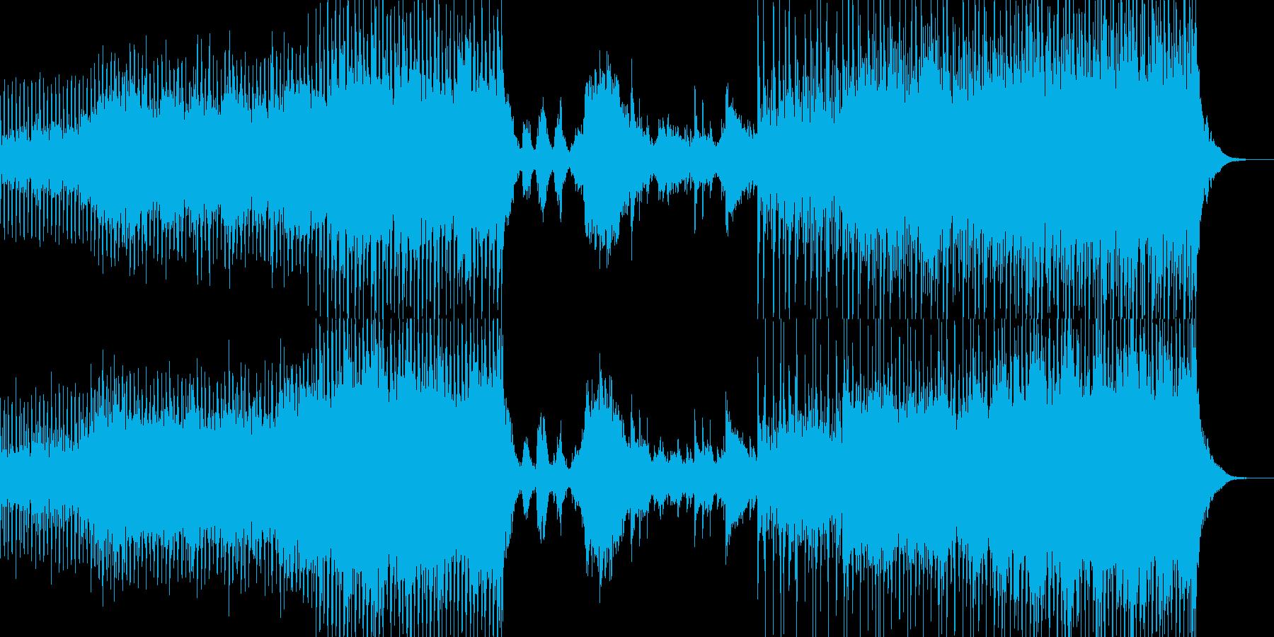 和風ダンス風インストの再生済みの波形