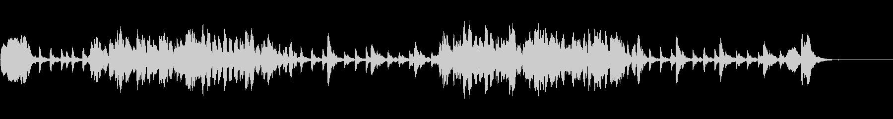 木管と木琴のコミカルなイメージの曲の未再生の波形