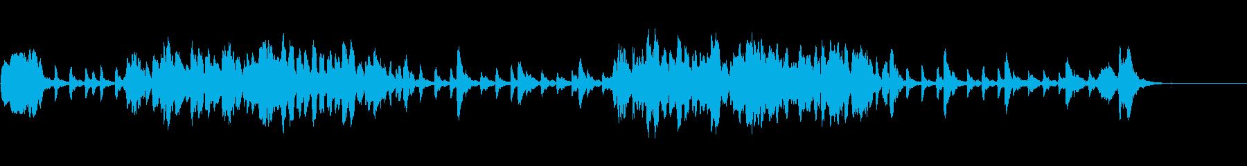 木管と木琴のコミカルなイメージの曲の再生済みの波形