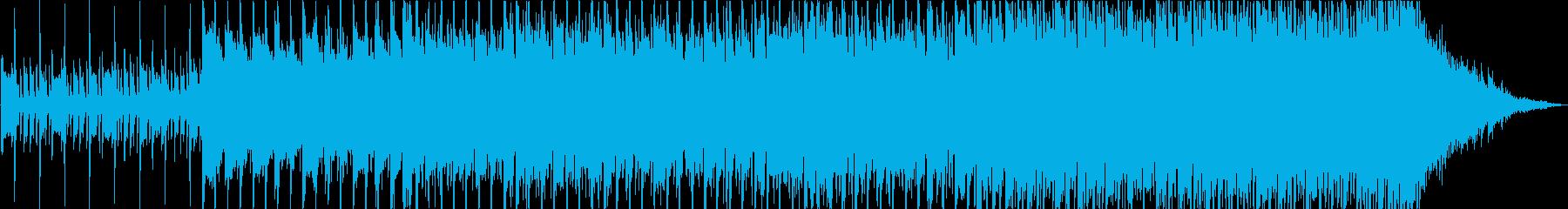 躍動するギターポップロックの再生済みの波形