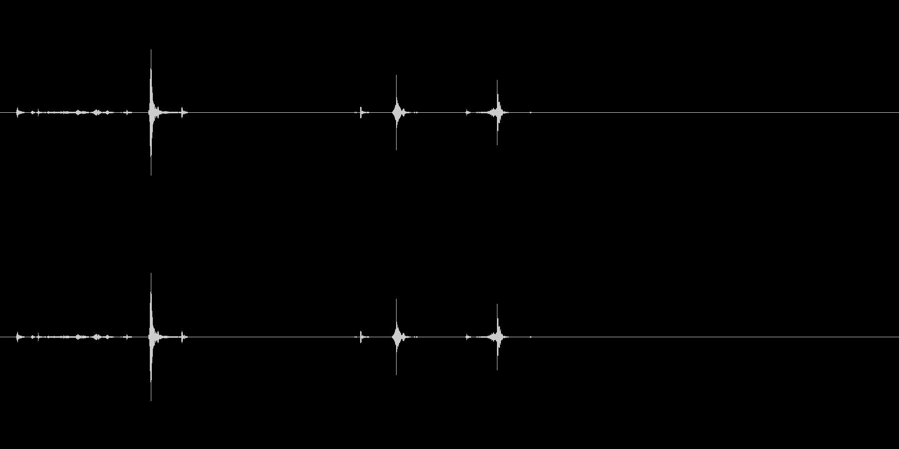 フロッピーディスクの挿入と抜去#6の未再生の波形