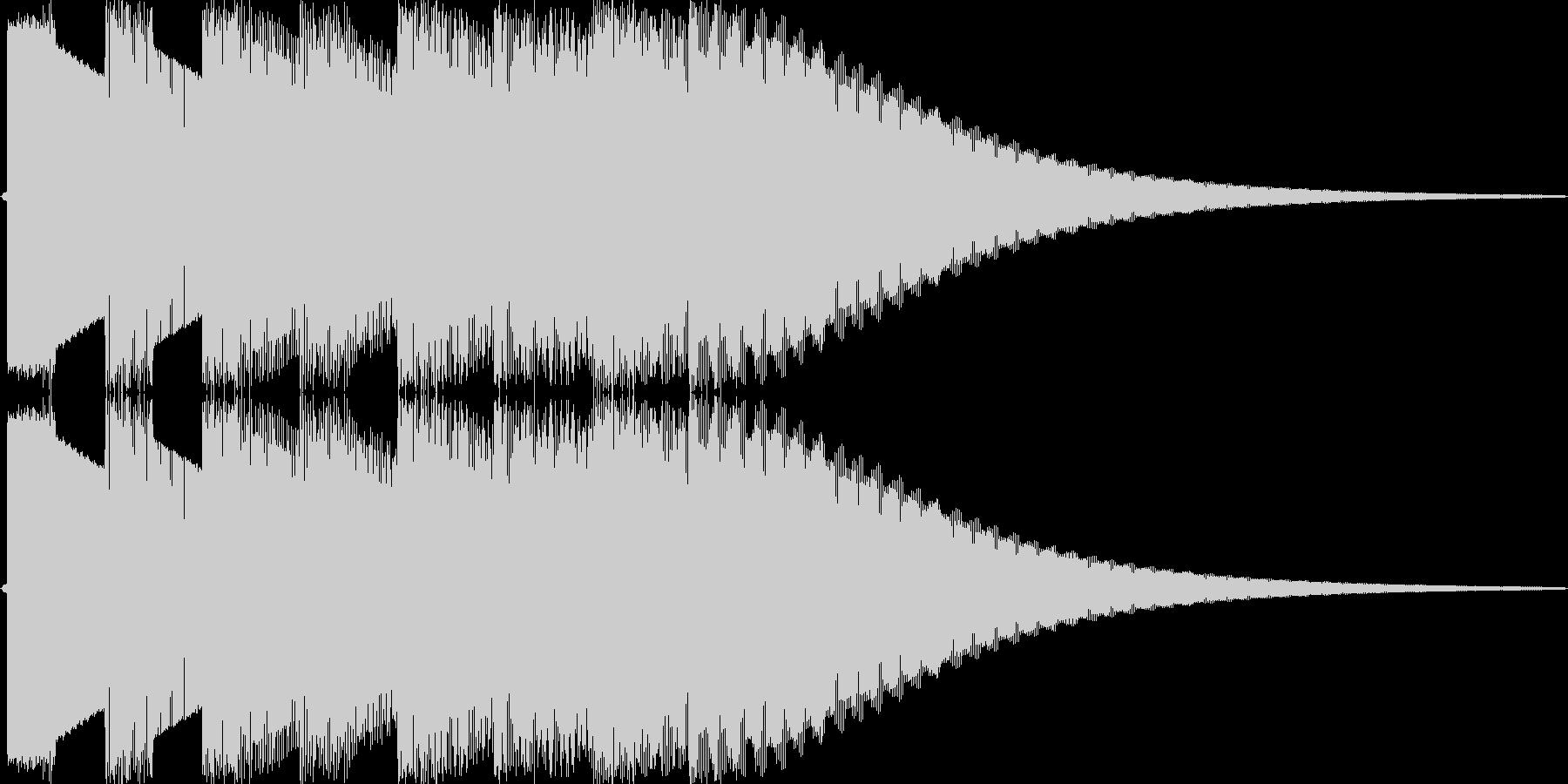 機械音のチャイムのジングルですの未再生の波形