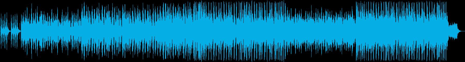 ギターの入ったエレクトロサウンドの再生済みの波形