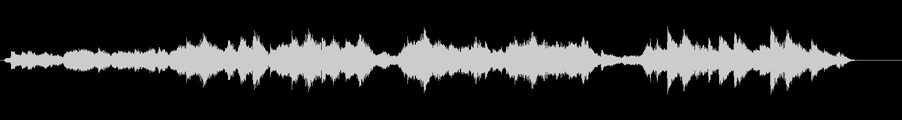 浮遊感のある幻想的なBGMの未再生の波形