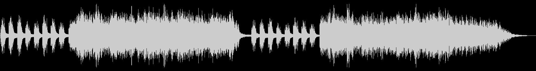 ピアノと波の音にとけあう癒しのハーモニーの未再生の波形