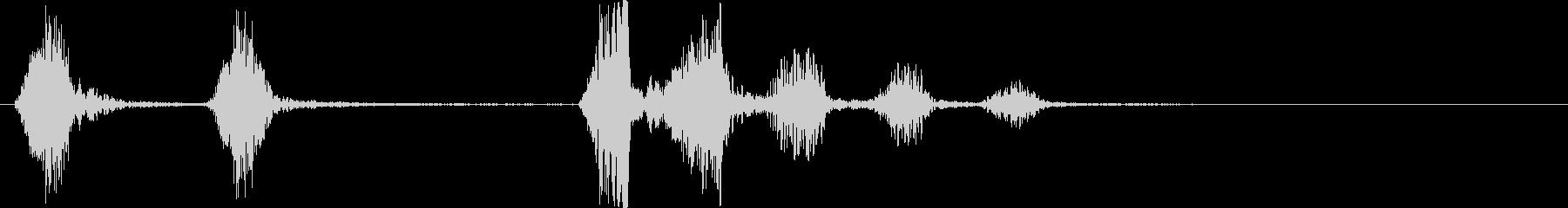 小型犬のbarえ声の未再生の波形