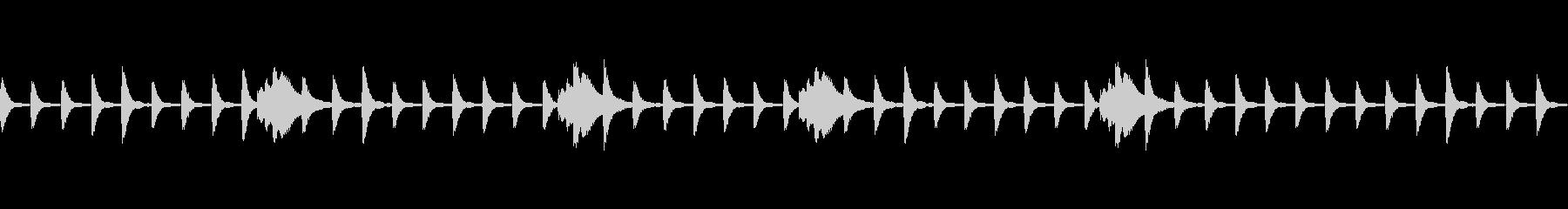 ホラーな雰囲気、緊迫したピアノBGMの未再生の波形