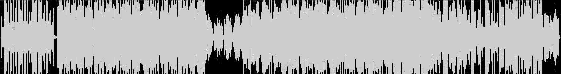 ダークで圧迫感ある機械的サウンドの未再生の波形