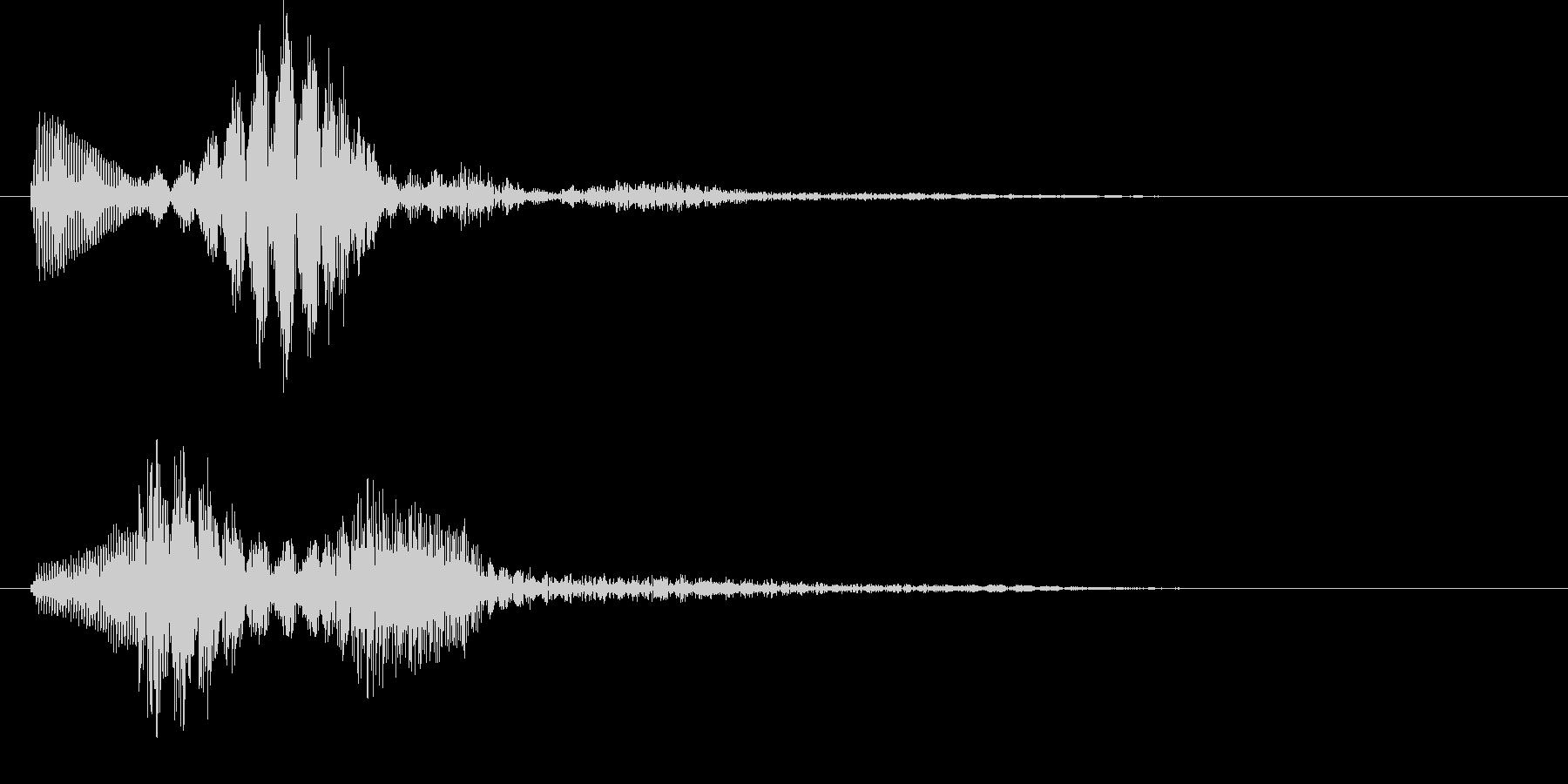 パララ(キャンセル音)の未再生の波形