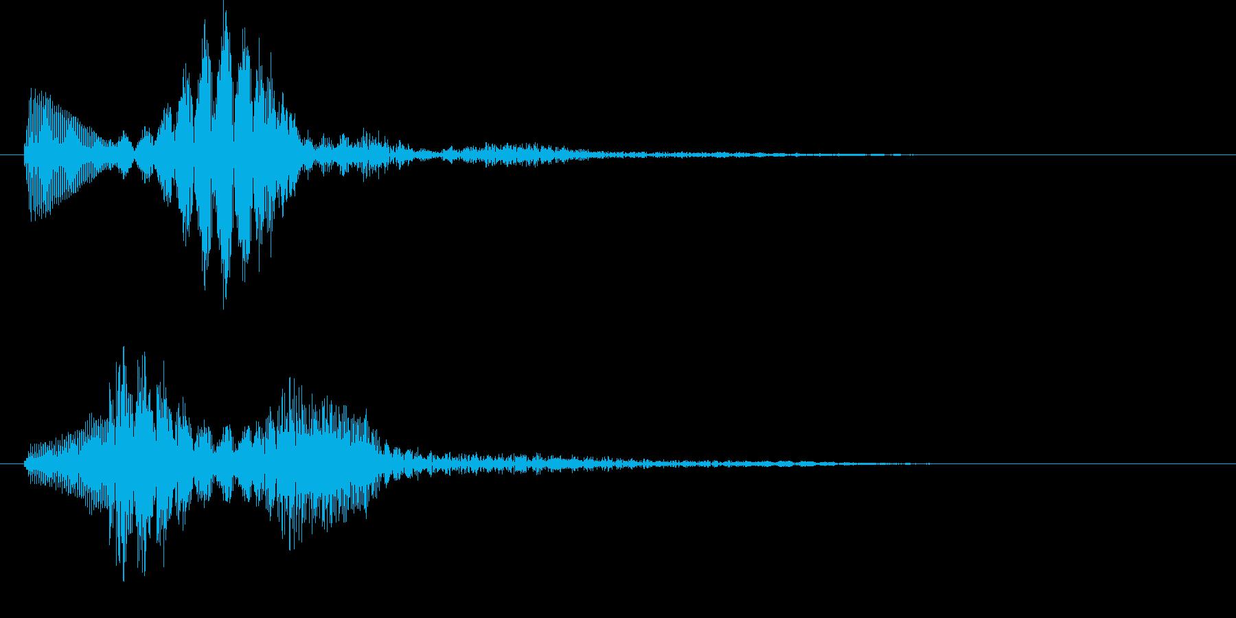 パララ(キャンセル音)の再生済みの波形