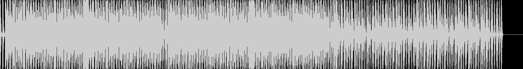 疾走感のあるEDM風サウンドの未再生の波形