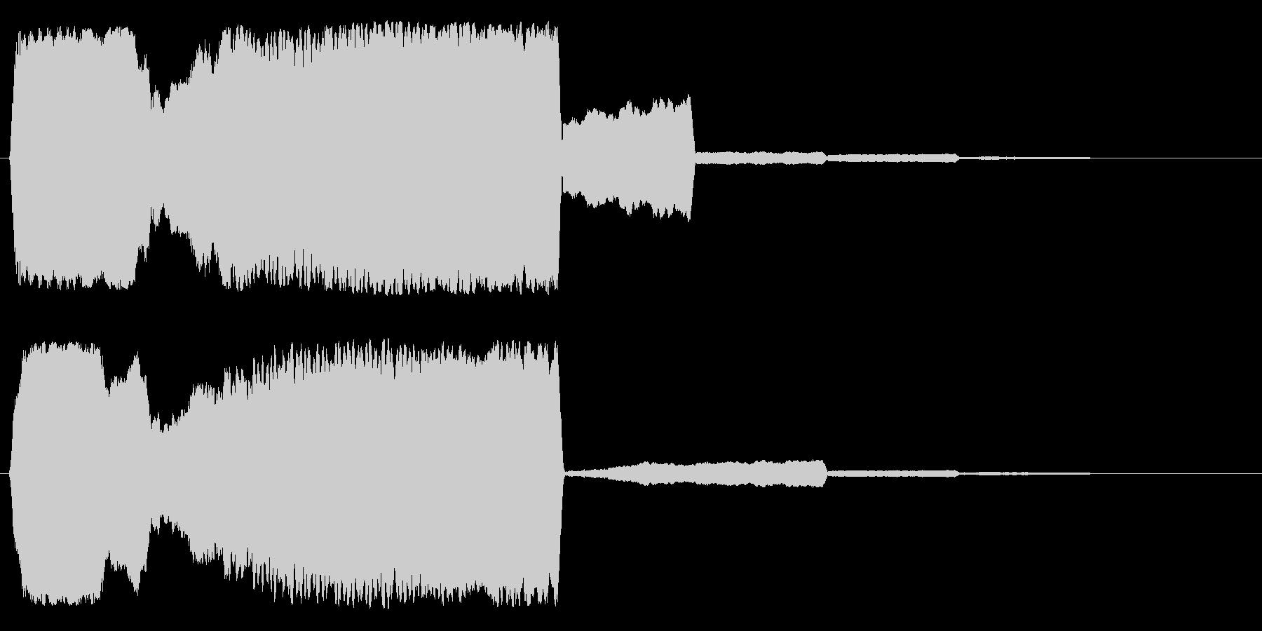 フゥィーーーン(和風、抜刀)の未再生の波形