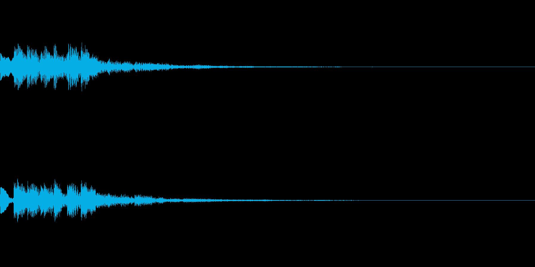効果音【スタート・獲得・通知・LvUp】の再生済みの波形
