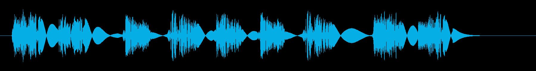 クイックスタッターバンプスイープの再生済みの波形