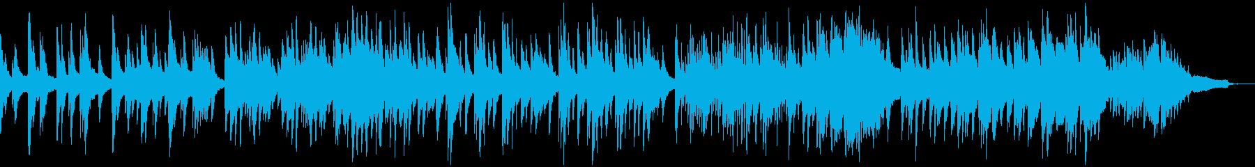 映像・ナレーション用ピアノ演奏(安らぎ)の再生済みの波形