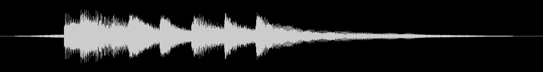 落ち着いたピアノジングル2透明感ニュースの未再生の波形