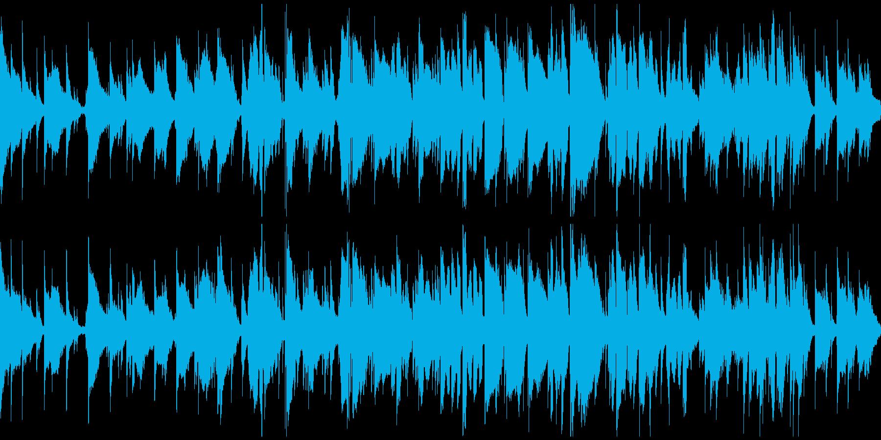 リラックス、眠りそうな癒し系 ※ループ版の再生済みの波形