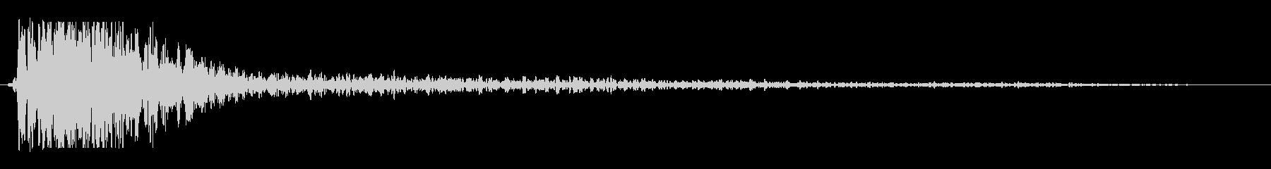 ドゥオーン(低音の打撃音と反響音)の未再生の波形