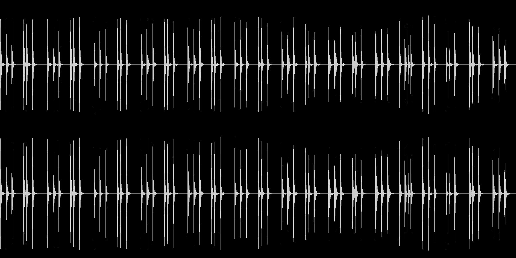 まったりしたクリケットの曲の未再生の波形