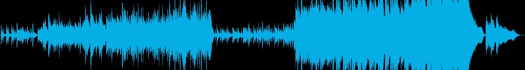 しみじみとした優しいエンディングの曲の再生済みの波形