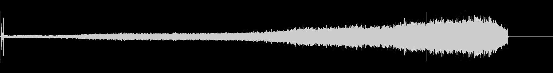 アセチレントーチポップオン、ヒスノ...の未再生の波形
