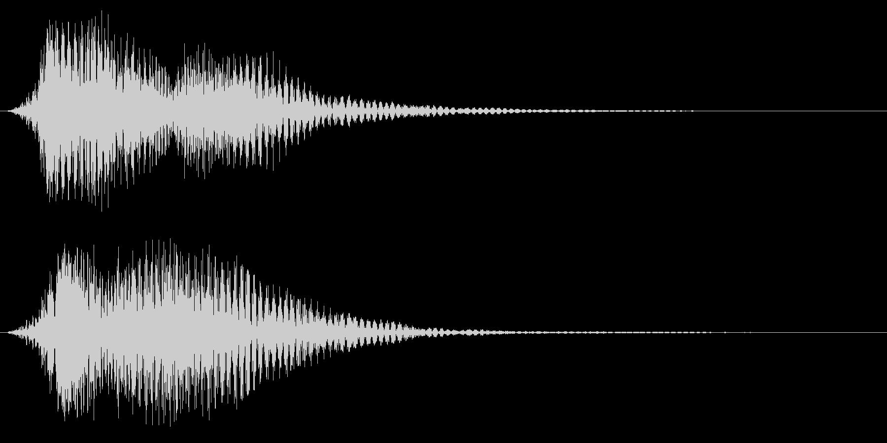 ファーン(電車の優しい警笛音)の未再生の波形