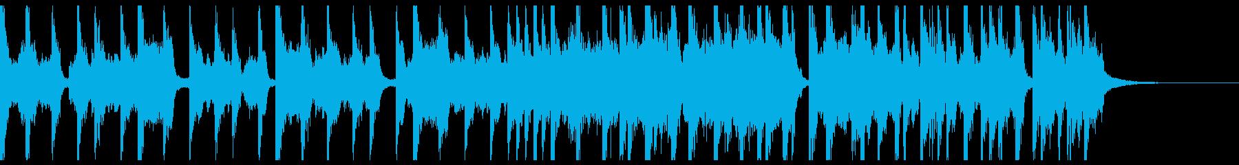 ファンキー テクノポップ ジングルの再生済みの波形