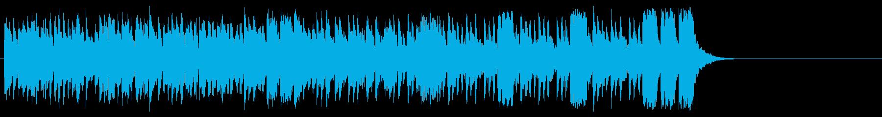 活気あふれるポップ(サビ~イントロ)の再生済みの波形