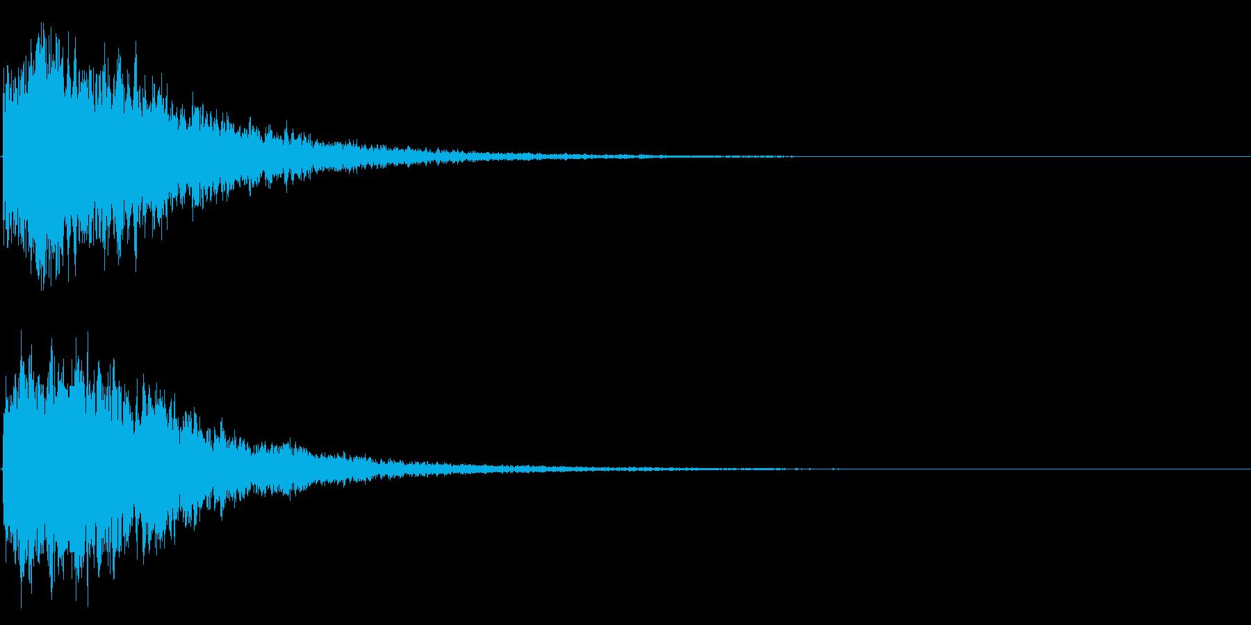 ゲームスタート、決定、ボタン音-134の再生済みの波形