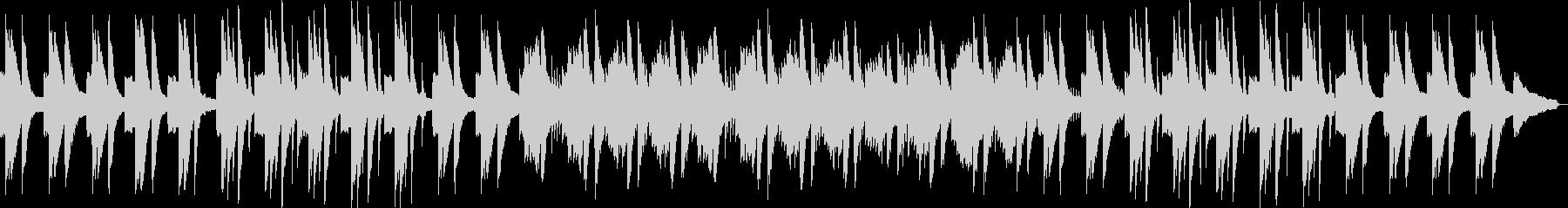 スローで荘厳なピアノソロ曲の未再生の波形