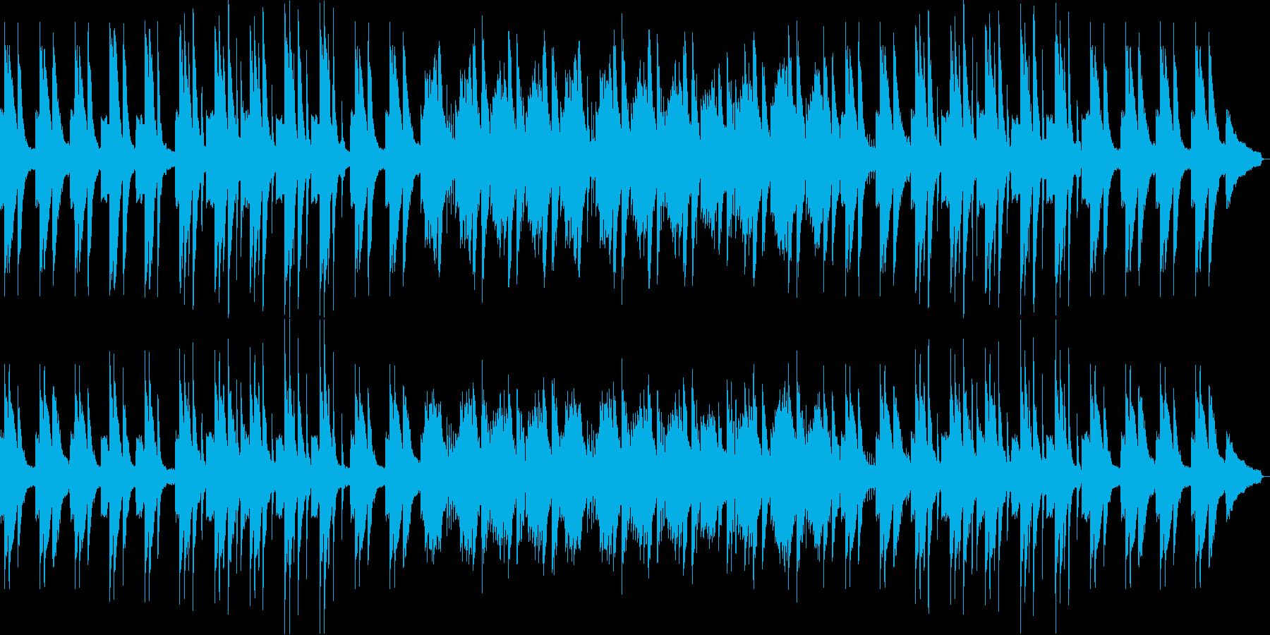 スローで荘厳なピアノソロ曲の再生済みの波形