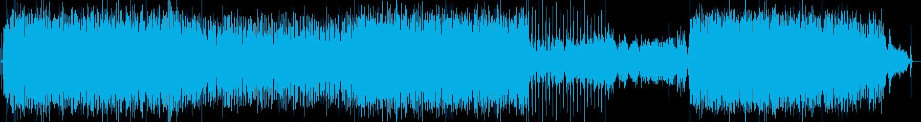 ポップス調のピアノ曲の再生済みの波形