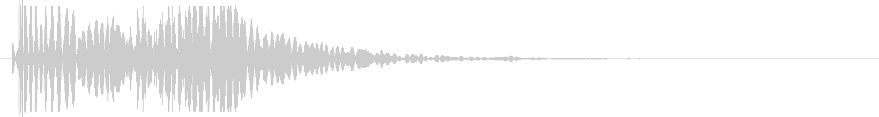ヘビーロータンピングラバーヒットの未再生の波形