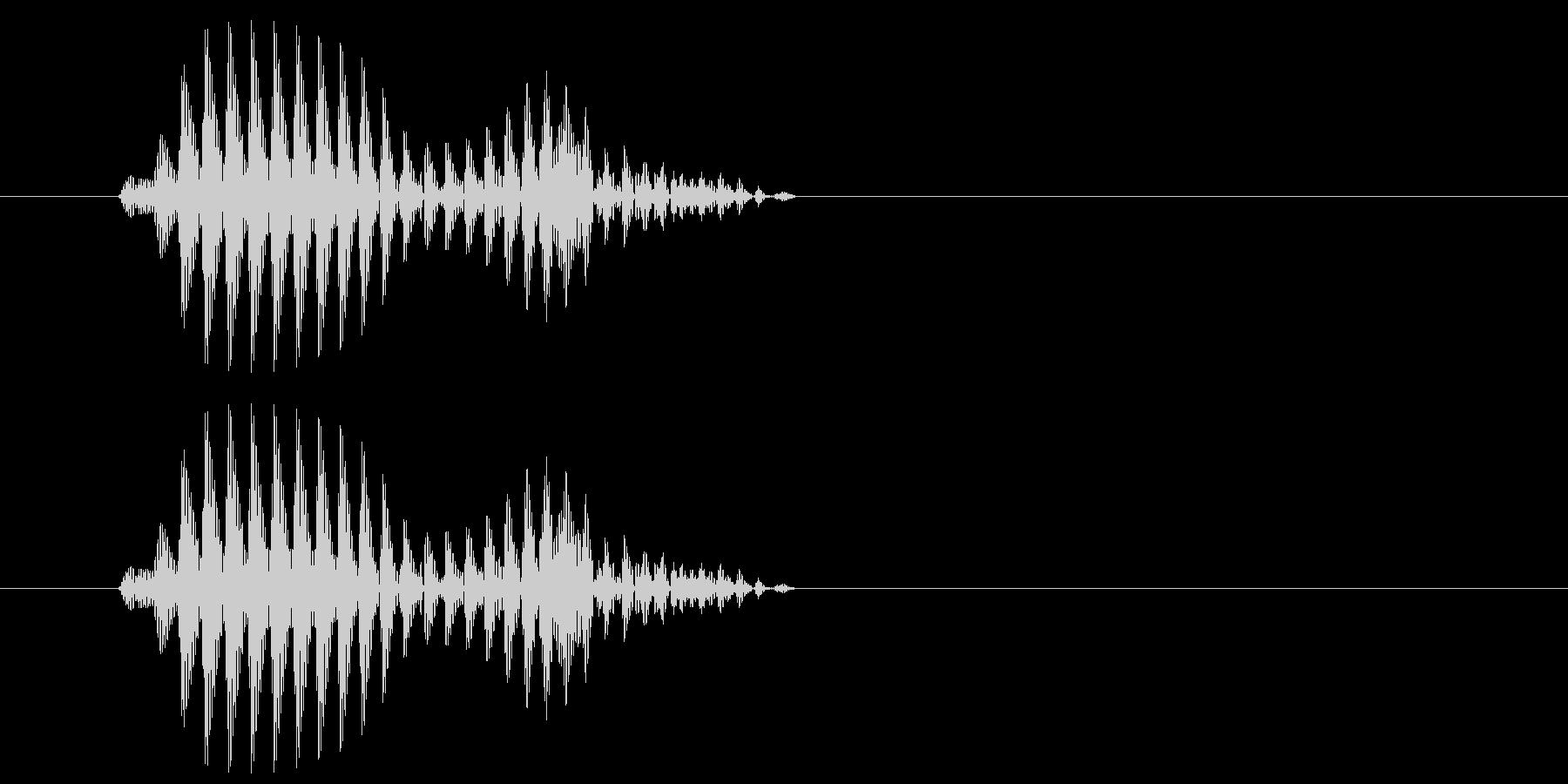 ギュ(サンダルで少し滑った音)の未再生の波形